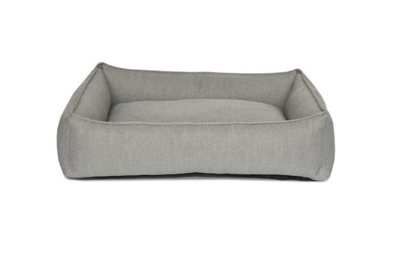 Grey Dog Lounger Dog Bed