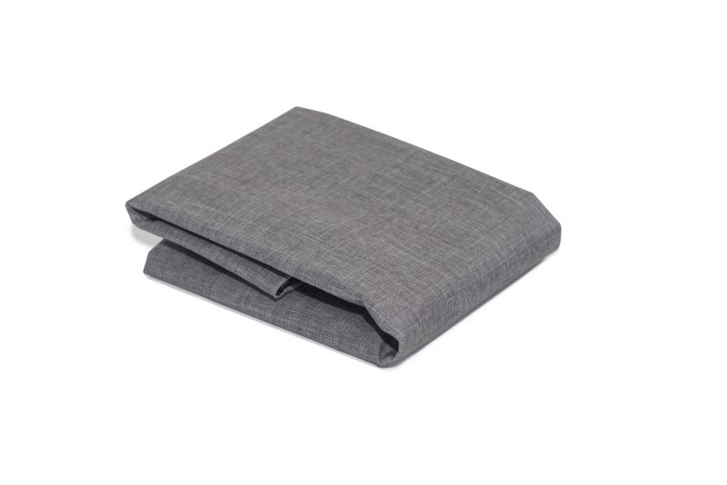 Folded Twilled Canvas Mid Grey Dog Bed Cover